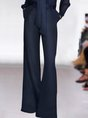 Navy Blue Elegant Work Top With Pants