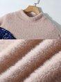 Turtleneck Embellished Geometric Casual Sweater