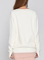 Geometric Shift Embellished Daily Casual Sweater