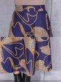 Floral Casual Shift Printed Zipper Maxi Skirt