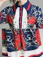 Shirt Collar Floral Printed Casual Maxi Dress