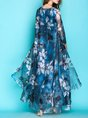 Swing Beach Floral Casual Maxi Dress
