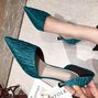 Spool Heel Daily Date Elegant Pointed Toe Shoes