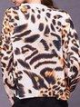 Leopard Crew Neck Shift Casual Sweater