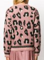 Casual Knitted Leopard Print Long Sleeve Sweater