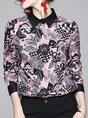 Floral Buttoned Long Sleeve Work Blouse