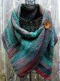 Casual Multicolor Stripes Round Neck Scarve