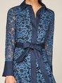 Shirt Collar A-Line Date Elegant Midi Dress