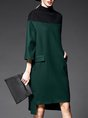 Shift Daily Elegant Color-Block Midi Dress