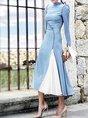 Cocktai Paneled Elegant Solid Maxi Dress