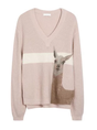 Animal Color-Block Knitted Casual Sweater