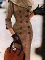 Vintage Long Sleeve Plain Coatsouterwear