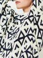 Knitted Printed Graphic Abstract Casual Sweater