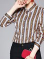 Printed Graphic Work Daily Shift Blouse