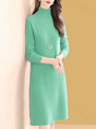 Aqua Daily Stand Collar Casual Sweater Dress