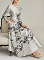 Printed Floral Swing Elegant Maxi Dress