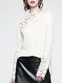 Guipure Lace Shift Elegant Top