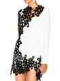 Guipure Lace Paneled Date Sexy Mini Dress