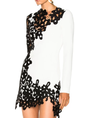 Guipure Lace Sheath Mini Dress
