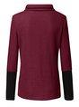 Color-Block Turtleneck Long Sleeve Casual Sweatshirt