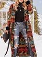 Lapel Wool Blend Coat With Belt