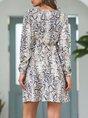 Deep V-Neck Holiday Boho Mini Dress