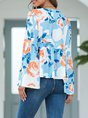 Shift Bell Sleeve Casual Floral Holiday Top