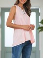 Pink Shift Solid Sleeveless Cami