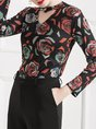 Printed Floral Sheath Casual Top