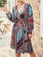 Summer Daily Tribal Casual Midi Dress