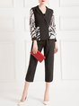 Graphic Printed Elegant Coat with Pants Set