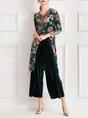 Printed Graphic Elegant Top with Pants Set