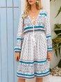 Summer Shift Beach Printed Midi Dress