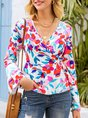 White Shift Printed Floral Casual Blouse