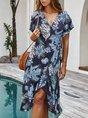 Summer Shift Boho Casual Midi Dress