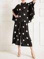 Polka Dots Casual Top with Pants Set