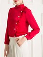 Ruched Sheath Elegant Blouse
