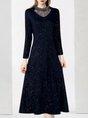 Shimmer A-line Elegant Maxi Dress