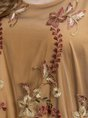 Yellow Brown A-Line Daily Pastoral Floral Midi Dress