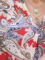 Multicolors Short Sleeve Floral-Print Top