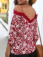 Shift Spaghetti Floral Holiday Tops