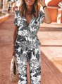 Printed Graphic Casual Jumpsuit