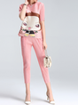 Printed Ruched Elegant Top with Pants Set