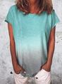 Ombre/tie-Dye Short Sleeve T-Shirt