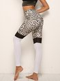 Leopard Daily Yoga Printed Sports Bottoms