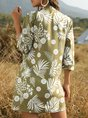 Holiday Floral 3/4 Sleeve Printed Kimono