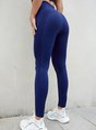 Solid Casual Yoga Sports Bottoms