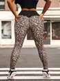 Yoga Leopard Sheath Sports Bottoms