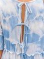 Beach Holiday Ombre/tie-Dye Mini Dress