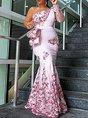 Floral Printed Prom Elegant Maxi Dress